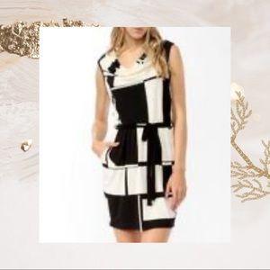 3/$20 Colorblock Cowl Neck dress Size Med